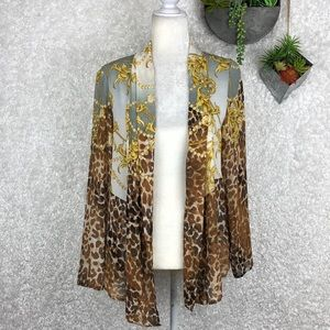 Chico's Open Front Cardigan M